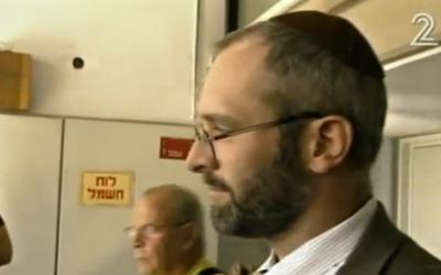 Yehoshua Elitzur (Crédit : capture d'écran Deuxième chaîne)