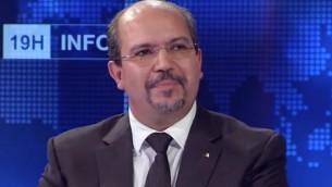 Mohamed Aissa, ministre algérien des Affaires religieuses. (Crédit : capture d'écran YouTube)
