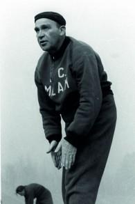 Bela Guttman dans son uniforme à Milan (Autorisation)
