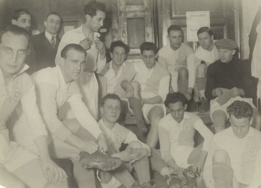 Bela Guttman avec le club de l'Hakoah Vienne (Autorisation)