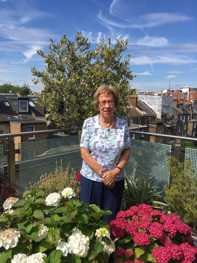 Eva Schloss chez elle à Londres, en 2017 (Autorisation)