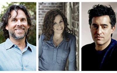 De gauche à droite : Michael Chabon, Ayelet Waldman et Nathan Englander (Crédit : Autorisation de Chabon, Reenie Raschke pour la photo de Waldman et Englander a été pris par Juliana Sohn)