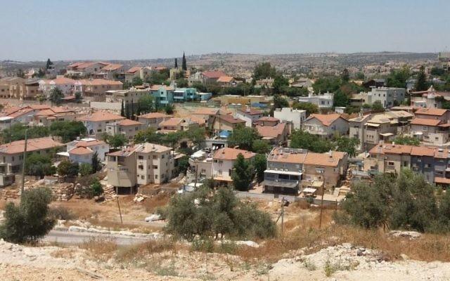 L'implantation d'Eli, dans le centre de la Cisjordanie. (Crédit : Dror Etkes)