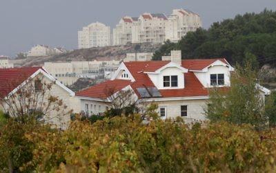 Une vue d'Efrat, une implantation à proximité de Jérusalem (Crédit : Nati Shohat/Flash90)