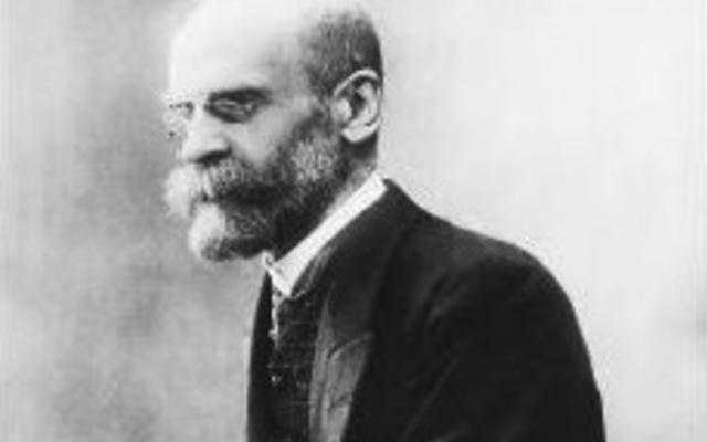 Le père de la sociologie Emile Durkheim est issu d'une longue lignée de rabbins (Crédit: domaine public)