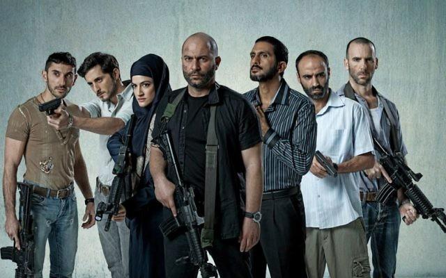 L'équipe de 'Fauda',' la série consacrée à des agents sous couverture en Cisjordanie, co-créée par Avi Issacharoff, qui écrit pour le Times of Israel (Crédit : Ohad Romano)