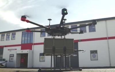 Un drone de Flytrex à Reykjavik, en Islande (Crédit : capture d'écran YouTube)