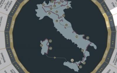 Le Giro pourrait partir de Jérusalem en mai 2018 pour finir à Rome. (Crédit: capture d'écran site officiel)