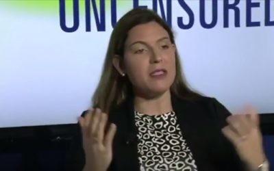 Lena Epstein, candidate républicaine au Sénat (Crédit : capture d'écran YouTube)