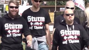 Le festival néonazi 'Rock contre la domination étrangère', à Thuringia, en Allemagne, le 15 juillet 2017. (Crédit : capture d'écran YouTube)