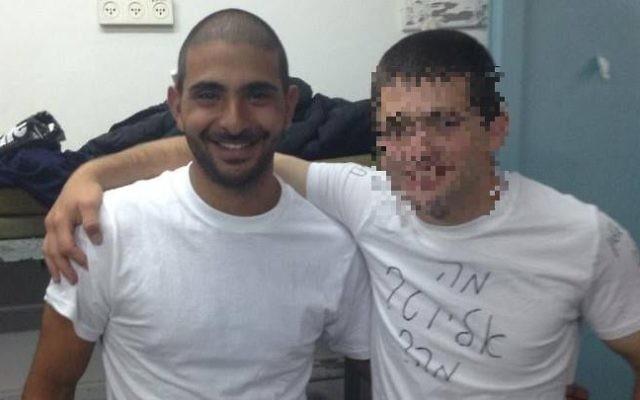 Omri Dahan, à gauche, ancien soldat de l'armée israélienne, tué à Brooklyn, le 13 août 2017. (Crédit : Facebook)