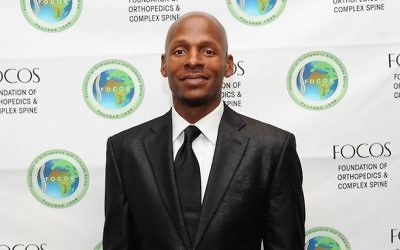 Ray Allen, joueur retraité de la NBA, pendant un gala à New York, le 29 septembre 2014. (Crédit : Rommel Demano/Getty Images via JTA)