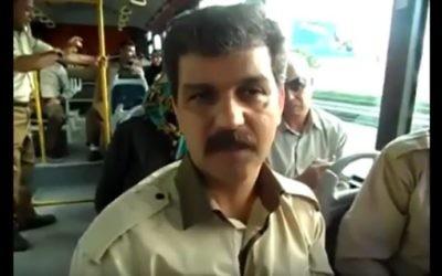 Reza Shahabi, syndicaliste iranien emprisonné et en grève de la faim depuis début août 2017. (Crédit : capture d'écran YouTube)