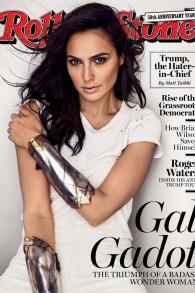 La couverture du magazine Rolling Stone avec l'actrice israélienne Gal Gadot, Septembre 2017.