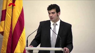 Le porte-parole de la communauté juive de Barcelone Victor Sorrenssen (Capture d'écran : YouTube)