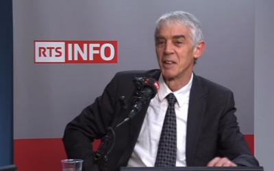 Martin Vetterli, président de l'Ecole polytechnique fédérale de Lausanne appelle la Suisse à un sursaut numérique (Crédit: capture d'écran RTS/Youtube)