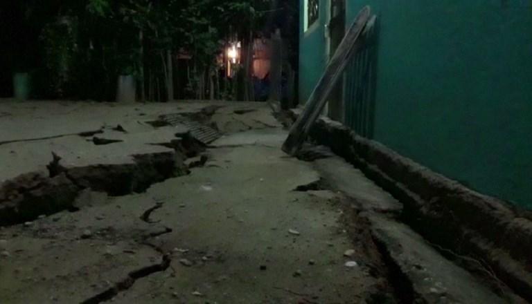 L'étendue des dégâts à Minatitlan, au Mexique,après un séisme d'une magnitude de 8,2, le 7 septembre 2017. (Crédit : Carlos Santos, Lizbeth Cuello/AFPTV/AFP)