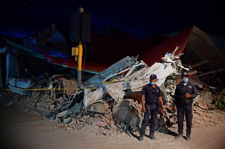 Dégâts causés par le séisme de magnitude 8,2 sur la côte pacifique du Mexique, à Juchitan de Zaragoza, le 9 septembre 2017. (Crédit : Ronaldo Schemidt/AFP)