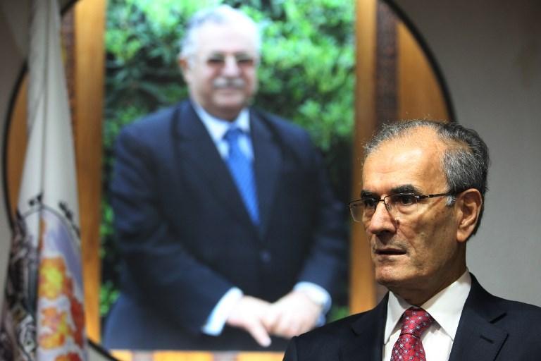 Najm Eddine Karim, gouverneur de la province de Kirkouk,dans son bureau, le 18 septembre 2017. (Crédit : Ahmad al-Rubaye/AFP)