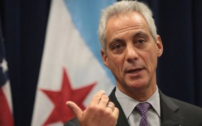 Le maire de Chicago Rahm Emanuel (Crédit : Scott Olson/Getty Images/AFP)