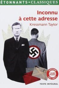 """Le roman épistolaire de Kressmann Taylor, """"Inconnu à cette adresse"""". (Crédit : autorisation)"""