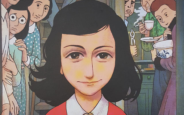 Un extrait de la bande dessinée basée sur le Journal d'Anne Frank (Crédit : Autorisation)