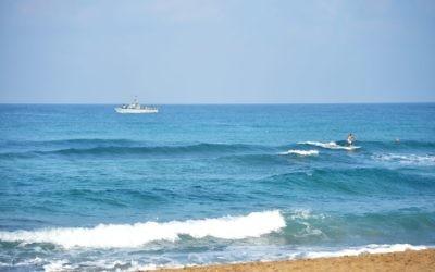Une plage dans le nord d'Israël (Crédit : Flash90)