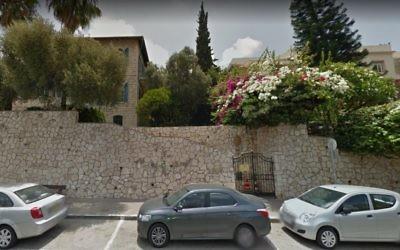 Le consulat français de Haïfa. (Crédit : capture d'écran Google Maps)