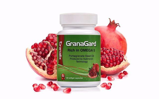 GranaGard est un complément alimentaire qui continent de l'huile de graine de grenadier (Autorisation : Efrat Eshel)