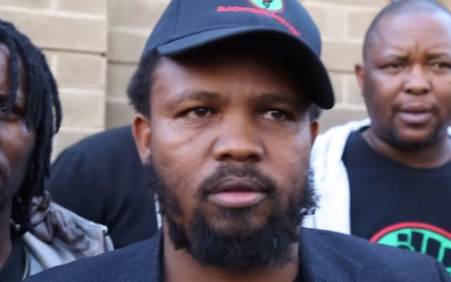 Andile Mngxitama, dirigeant du parti Black First Land First (BLF), en juillet 2017. (Crédit : capture d'écran YouTube)