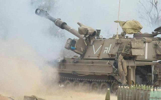 Un canon automoteur de l'armée israélienne. Illustration. (Crédit : armée israélienne)