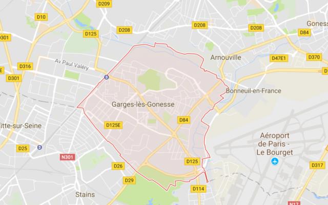 Garges les Gonesse, une ville de la couronne au nord  de Paris, proche de Sarcelles point de chute des juifs d'Afrique du nord dans les années 60 (Crédit: capture d'écran Google Map)