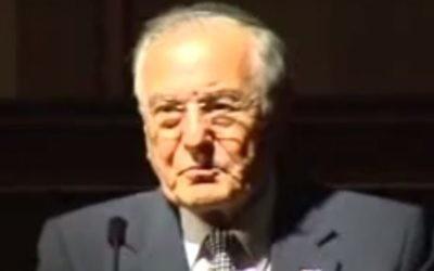 Joshua O. Haberman. (Crédit : capture d'écran YouTube)