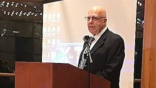 Talat Othman, fondateur du Palestinian Students Scholarship Fund, lors du dîner inaugural pour la levée de fonds à Oak Brook, Illinois, le 10 septembre 2017. (Autorisation)