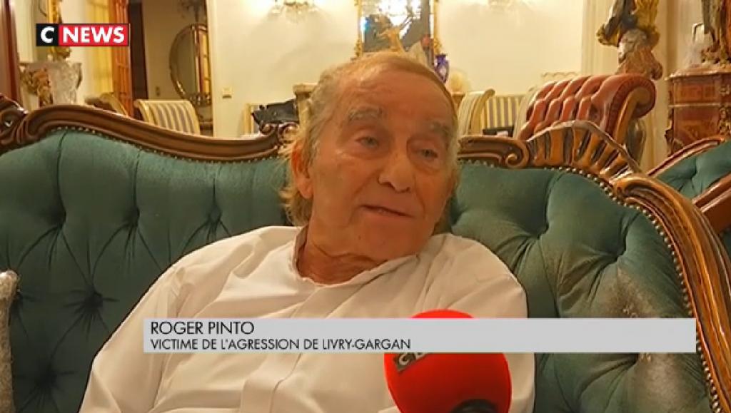 Roger Pinto, président de l'association Siona a été agressé ainsi que sa femme et son fils à leur domicile dans la nuit du 7 au 8 septembre (Crédit : capture d'écran CNews)
