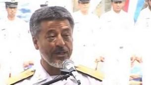 Habibollah Sayyari (Crédit : capture d'écran YouTube)