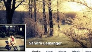 La page Facebook de Leikanger avec une photo de profil montrant Yair Netanyahu. (Crédit : Facebook)