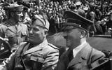 Hitler et Mussolini à Munich, en Allemagne, le 18 juin 1940. Hitler était presque à son apogée, ayant remporté une série de victoires et terminant sa conquête de l'Europe occidentale continentale (Crédit : Shutterstock)