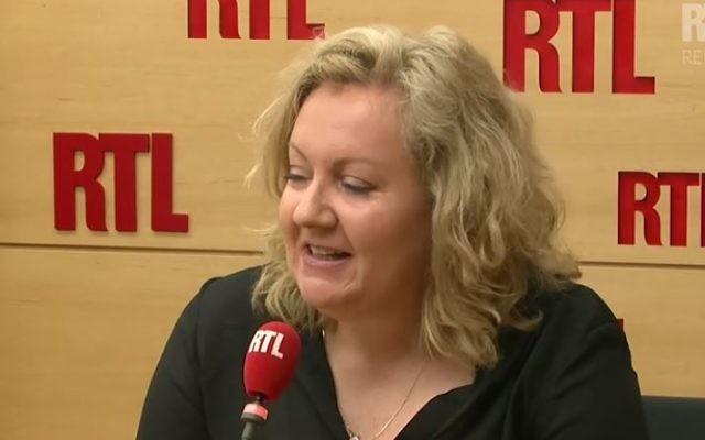 Sophie Montel, du Front National, sur RTL le 4 août 2017. (Crédit : capture d'écran RTL)