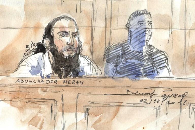 Abdelkader Merah à l'ouverture de son procès à Paris, le 2 octobre 2017. (Crédit : Benoit Peyrucq/AFP)