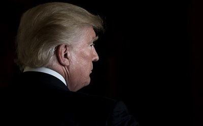 Le président américain Donald Trump à la Maison Blanche, le 6 octobre 2017. (Crédit : Brendan Smialowski/AFP)