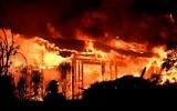 Incendie dans le comté de Napa, en Californie, le 9 octobre 2017. (Crédit : Josh Edelson/AFP)