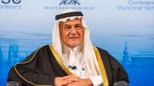 Le prince Tourki ben Fayçal Al Saoud à la Conférence de sécurité de Munich de février 2014. (Crédit : Mueller - MSC/CC BY 3.0/WikiCommons)
