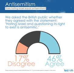 """""""La haine d'Israël et la remise en cause de son droit à exister sont antisémites"""" (Crédit : BICOM)"""