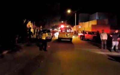 La scène de la fusillade à Tel Sheva, le 18 octobre 2017 (Crédit : Magen David Adom)