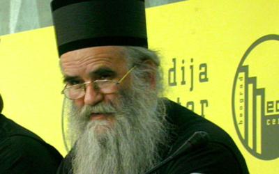 L'évêque Amfilohije (Crédit : Medija centar Beograd/ CC BY 3.0)