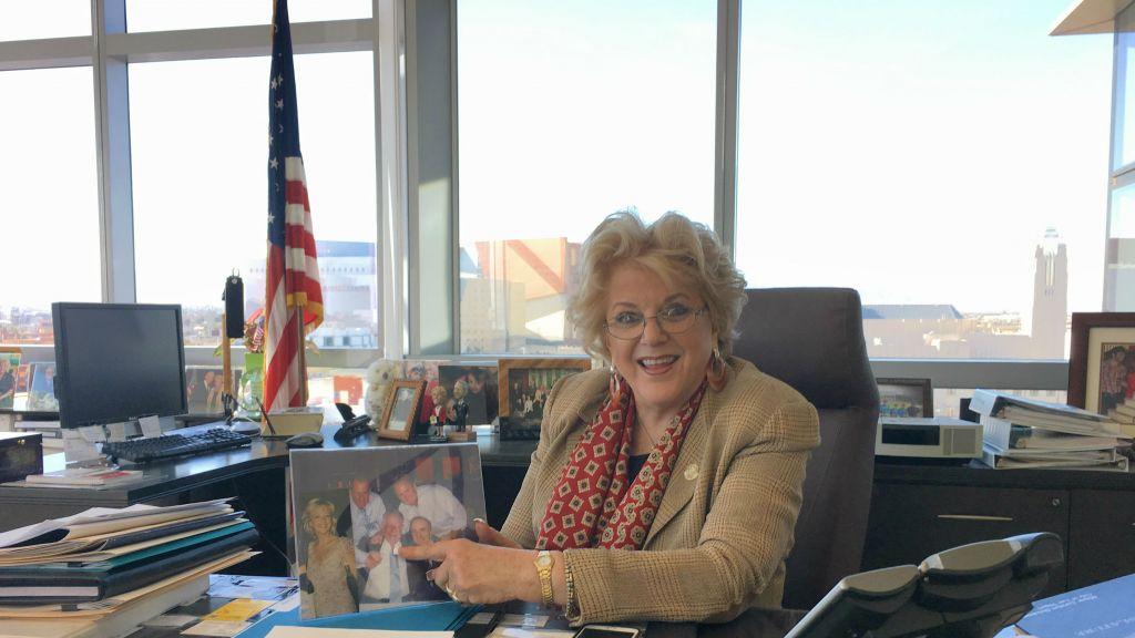 Carolyn Goodman, maire de Las Vegas. (Crédit : Ron Kampeas/JTA)