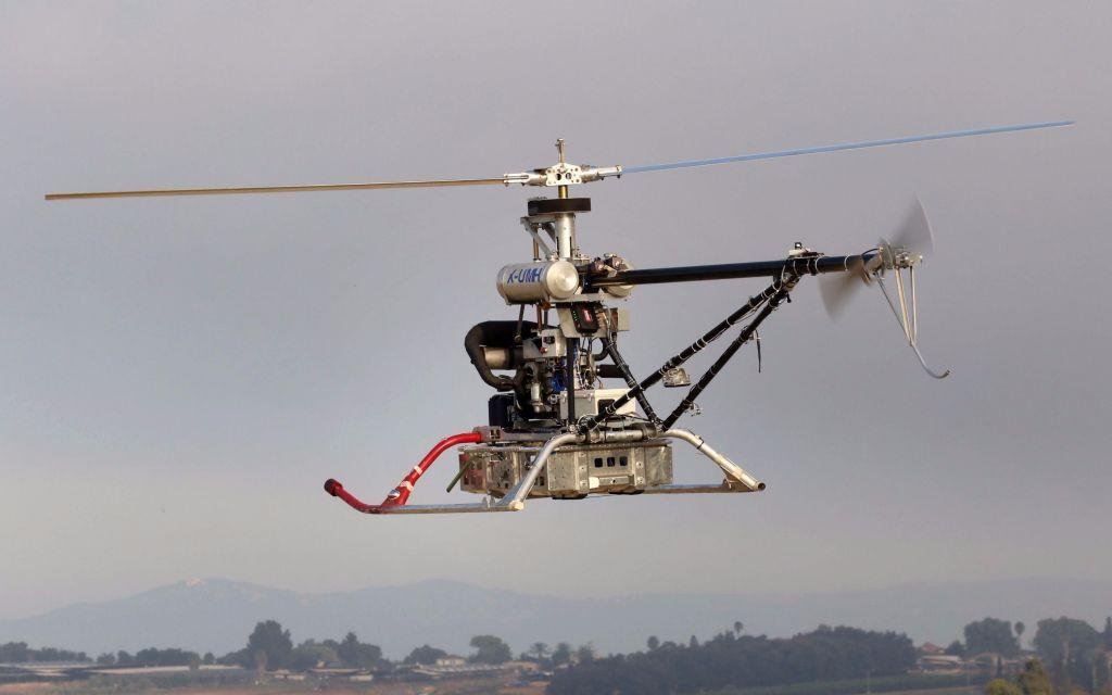 L'Air Happer, des Israel Aerospace Industries' (IAI), un drone qui permet l'évacuation de soldats blessés. (Crédit : autorisation)
