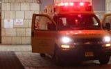 Une ambulance du Magen David Adom devant un hôpital israélien. Illustration. (Crédit : Noam Revkin Fenton/Flash90)