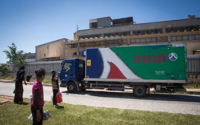 Une usine Tnuva près de Jérusalem, en mai 2015. Illustration. (Crédit : Miriam Alster/Flash90)